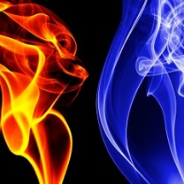 АЛКОР, синее и красное пламя